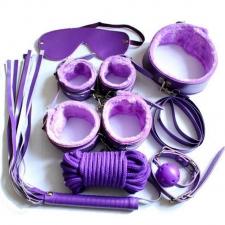 Набор БДСМ фиолетовый/розовый MassX